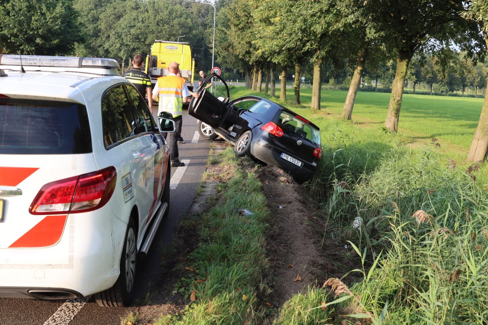 Weer ongeval in beruchte bocht Wesselseweg Kootwijkerbroek.